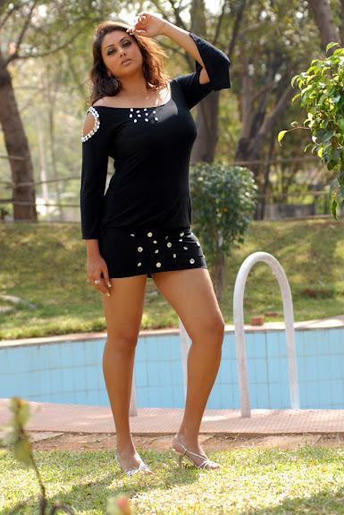 Sweet Cute Namitha New Hot Stills in black Wet