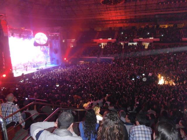 Durante el concierto.