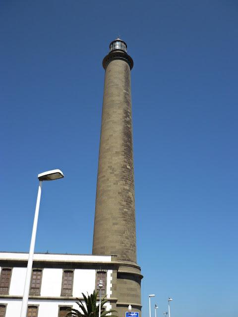 Nahaufnahme von Maspalomas Leuchtturm.