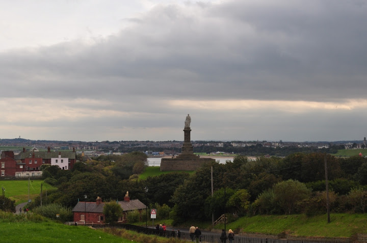 Collingwood's Monument on the right