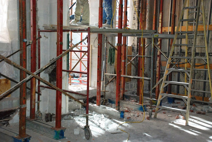 Scaffolding, scaffold, shoring, suspended, swing, overhead protection, equipment, rental, rents, rent, safety, PA, MD, DE, NJ, Philadelphia, New York, 215 743-2200, stage, stages, staging, frame, system, erection, deliver, dismantle, canopy, superior