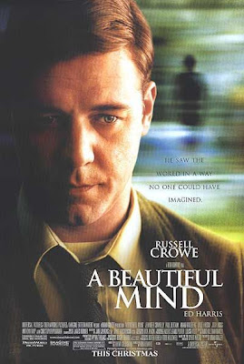 Film poster for A Beautiful Mind starring Russell Crowe (2001)