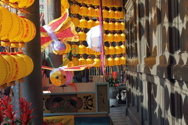 Yellow Lanterns at Longshan Temple, Taipei