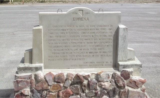 Eureka Nevada historical marker