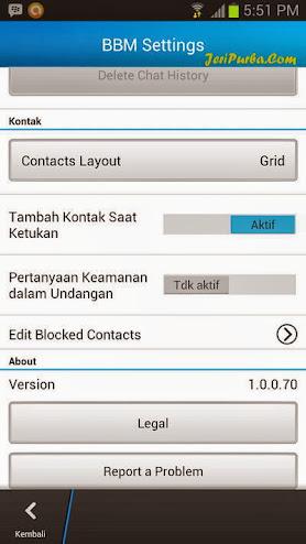 Versi BBM For Android Resmi