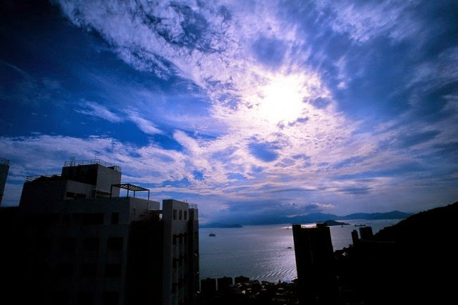 香港大學 傍晚