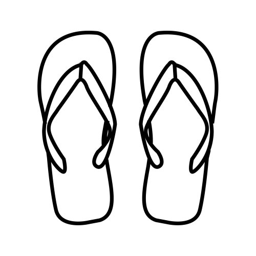 Flipflops, free coloring pages
