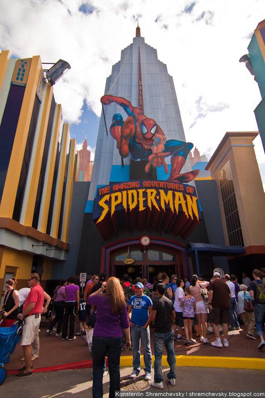 USA Florida Orlando Universal Islands Of Adventure Spider Man США Флорида Орландо Юнивёрсал Айлендс оф Адвенча Острова Приключений Человек Паук