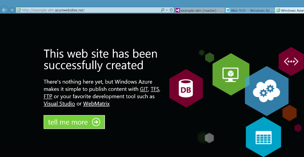 Windows Azure Web Site 4