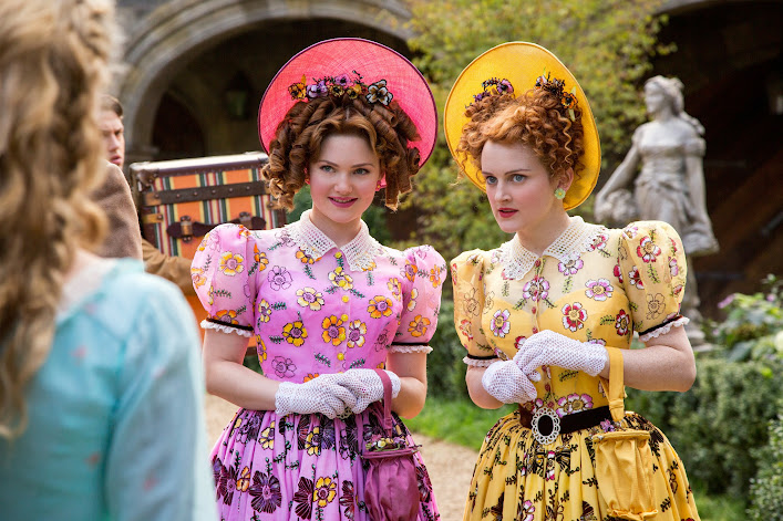 Have courage and be kind: Holliday Grainger is Anastasia and Sophie McShera is Drisella in Disney's live-action Cinderella #Cinderella
