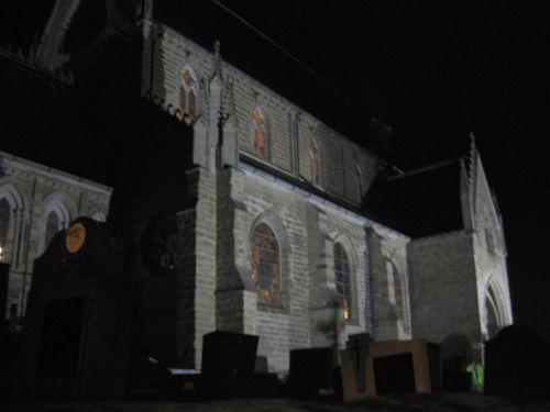 Bezoekje aan de Kerk O.L.V.-Lombeek. Mooi verlicht.