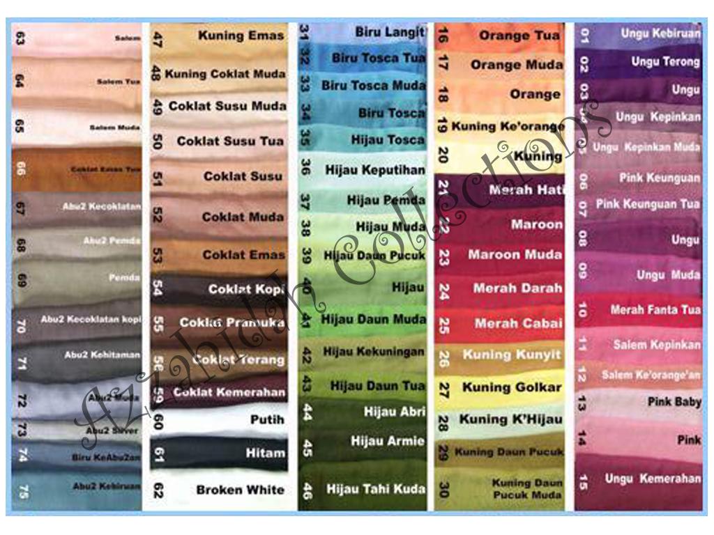 Harga Kerudung Segi Empat Polos Di Tanah Abang Jual Jilbab Paris Katalog Warna