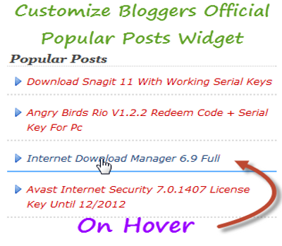 How To Customize Blogger's 'Popular Posts' Gadget