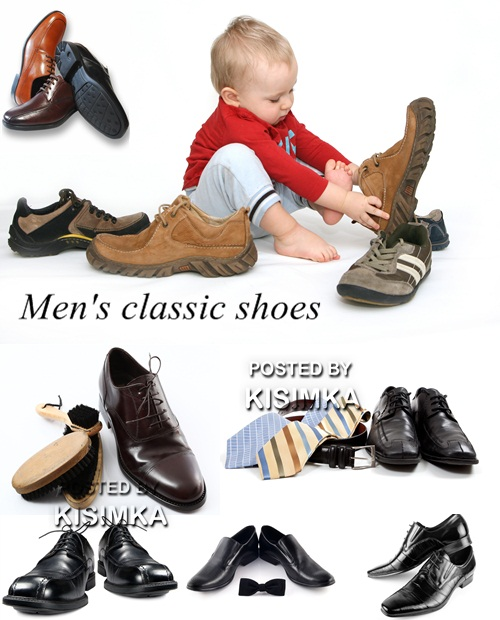 Stock Photo: Men's classic shoes