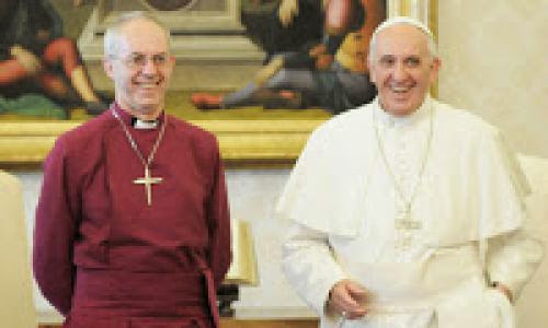 Archbishop Of Canterbury Pope Francis Speak Of Unity
