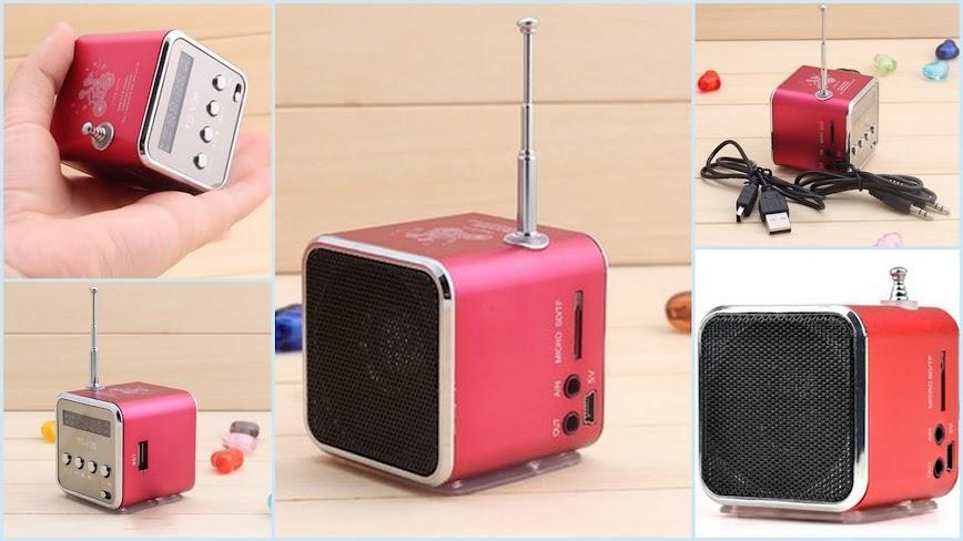mini lautsprecher fm radio usb microsd kartenleser portable musik w rfel station ebay. Black Bedroom Furniture Sets. Home Design Ideas