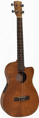 Korala cutaway electric acoustic Baritone at Lardy's Ukulele database