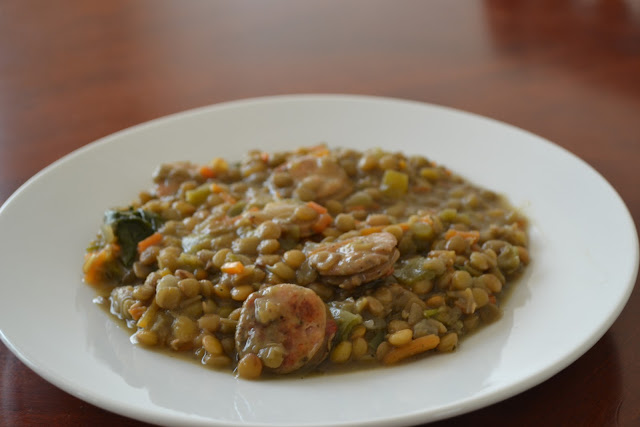 Lentil Soup with Italian Chicken Sausage