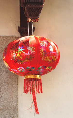 Chinese silk lantern