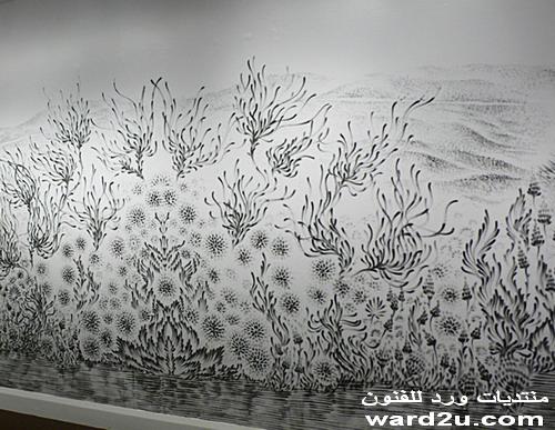 جدارية غبار الماس والرسم بدون فرشاة Judith Braun