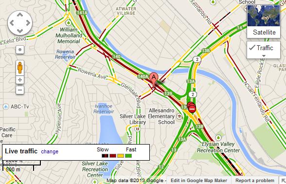 La Freeway Traffic Map.Freeway Closures Make For A Slow Moving Monday The Eastsider La
