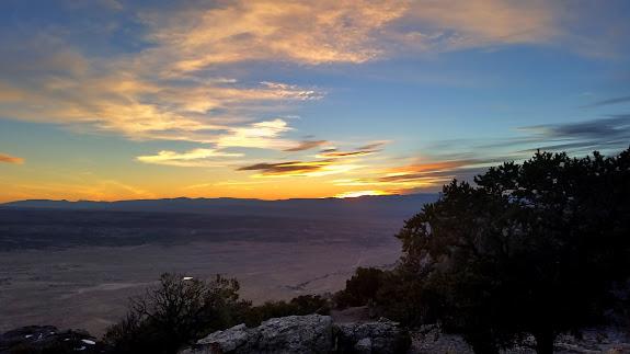 Sunset from Cedar Mountain picnic area