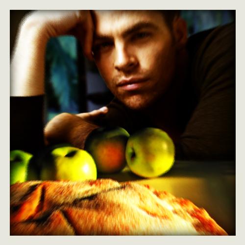 fake Instagram of apple pie