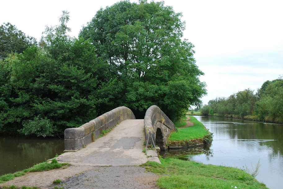 towpath bridge at entrance to former Basin Quay, Haigh Country Park