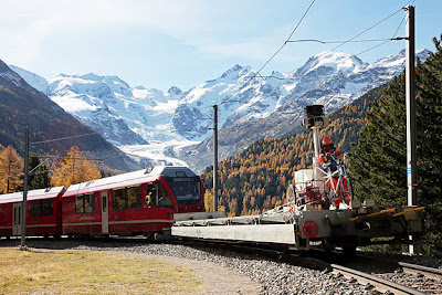 Google StreetView rides the Swiss rails