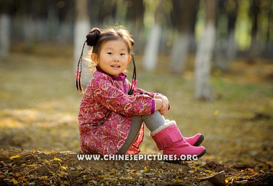 Chinese Kids in Sunshine Photo