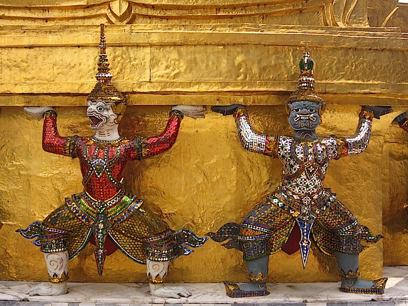Hindu god figurines at the Bangkok Grand Palace