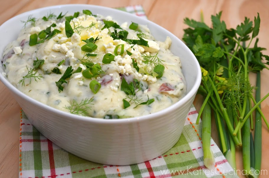 Feta and Herb Mashed Potatoes