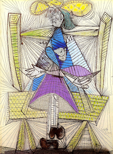 Femme assise (Dora Maar) 1938 by Pablo Picasso