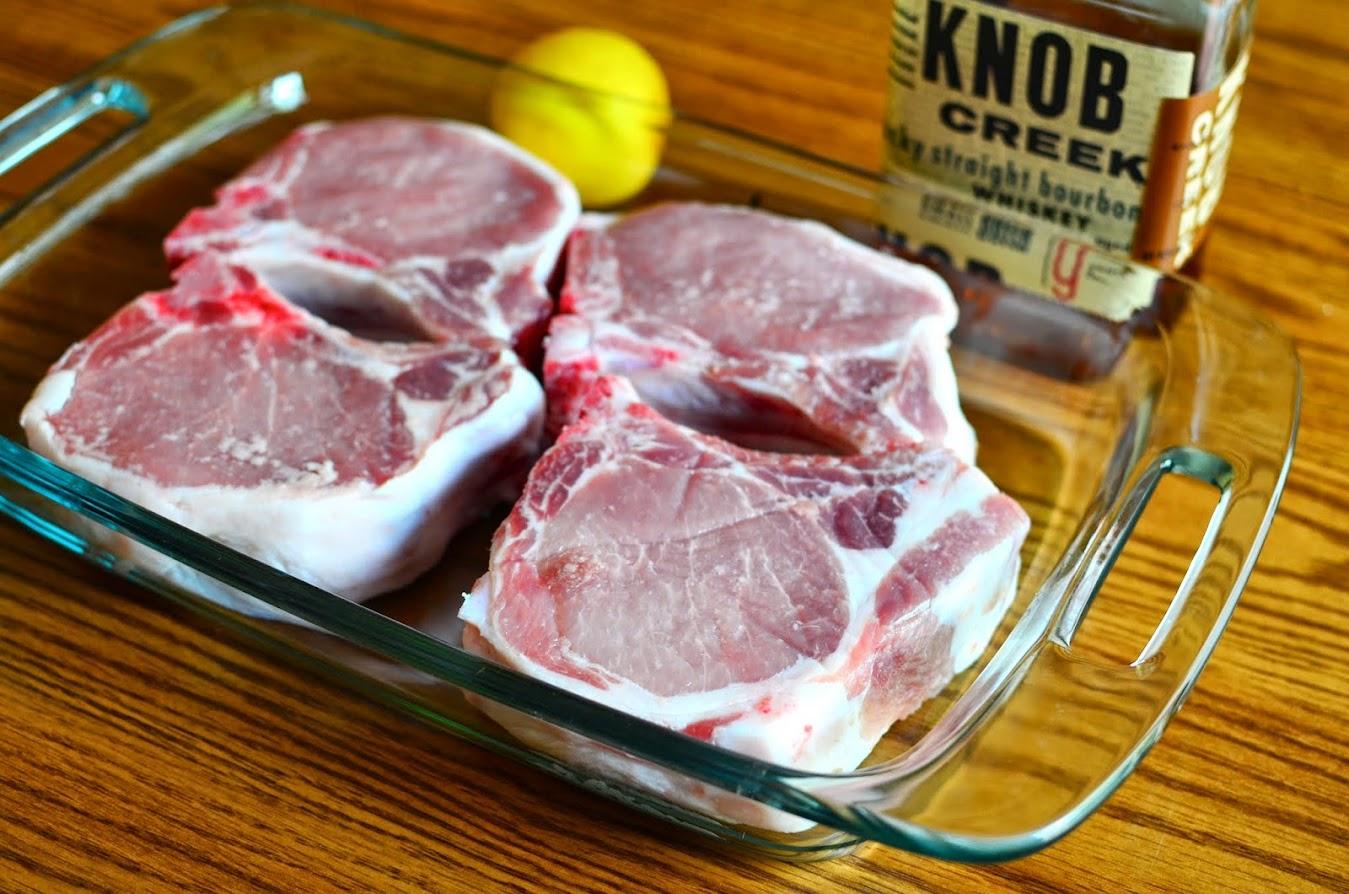 Pork chops ready to marinate