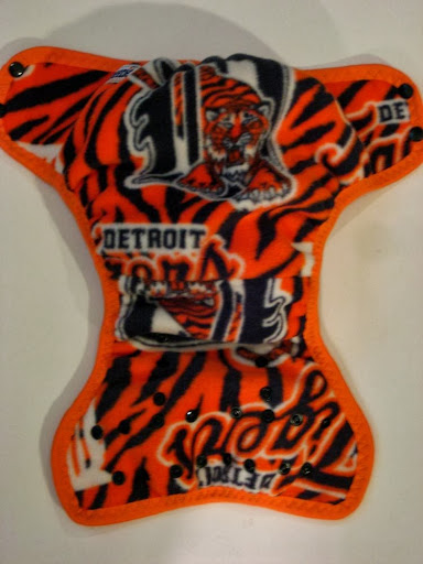 Detriot Tigers Cloth Diaper