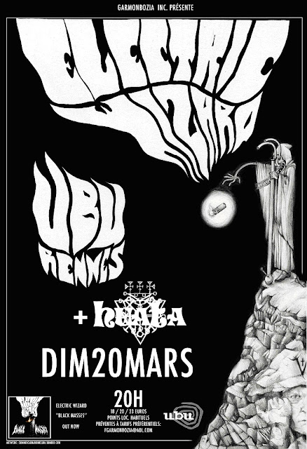 Fire On The Bayou Flyer+ELECTRIC+WIZARD+%252B+HUATA+Rennes+Ubu+20.03.11