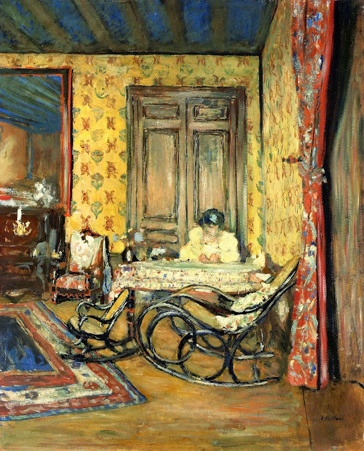 Édouard Vuillard - Interior with Rocking Chairs