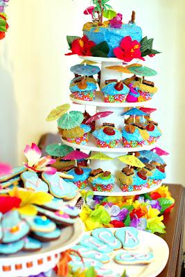 Hawaiian Themed Birthday Treats