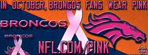 Broncos Breast Cancer Awareness Pink Facebook Cover Photo