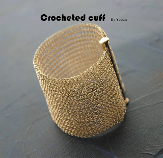 wire crochet cuff bracelet tutorial