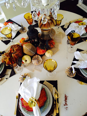 Thanksgiving table setting, Fall Tablescape