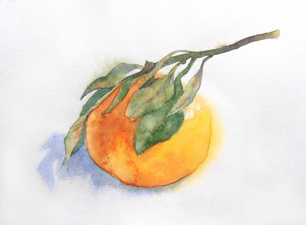 мандарин акварель