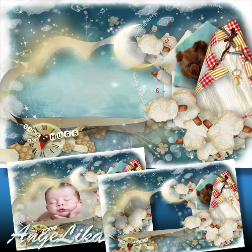 Photoframe for Kids - Time of Sweet Dreams