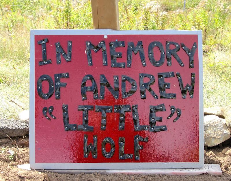 Andrew's Memorial sign