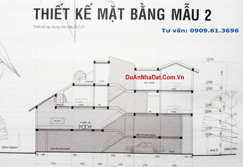 thiết kế dãy B, C, D nhà phố Ecopark