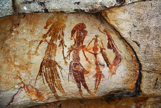 Bradshaw rock paintings in the Kimberley region of Western Australia
