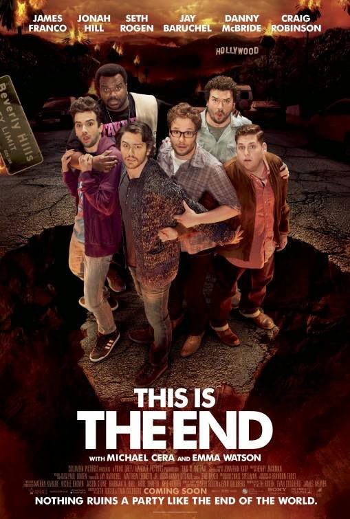 Poster Of English Movie This is The End (2013) Free Download Full New Hollywood Movie Watch Online At Alldownloads4u.Com