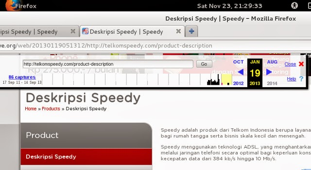 deskripsi telkom speedy 19 Januari 2013