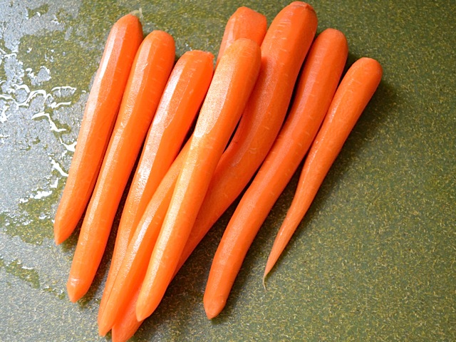 peeled carrots