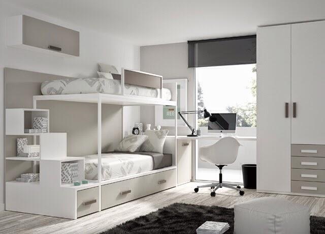 Tipos de camas para dormitorios juveniles - Cama tipo tren ...